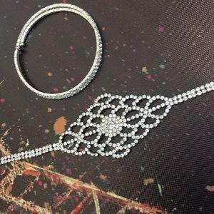 2 sparkly bracelets